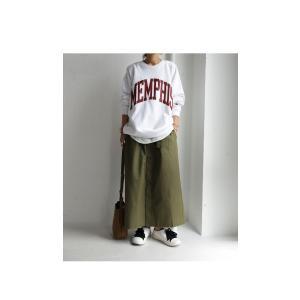 ボトムス スカート ロング レディース 綿100% ボタンデザインスカート・10月2日20時〜再販。「G」##メール便不可|antiqua|12