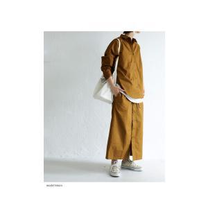 ボトムス スカート ロング レディース 綿100% ボタンデザインスカート・10月2日20時〜再販。「G」##メール便不可|antiqua|14