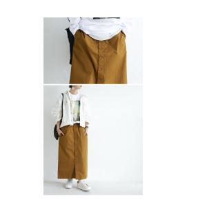 ボトムス スカート ロング レディース 綿100% ボタンデザインスカート・10月2日20時〜再販。「G」##メール便不可|antiqua|15