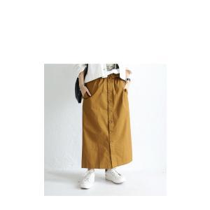 ボトムス スカート ロング レディース 綿100% ボタンデザインスカート・10月2日20時〜再販。「G」##メール便不可|antiqua|16