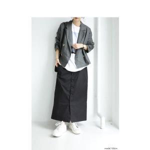ボトムス スカート ロング レディース 綿100% ボタンデザインスカート・10月2日20時〜再販。「G」##メール便不可|antiqua|18