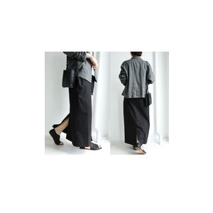 ボトムス スカート ロング レディース 綿100% ボタンデザインスカート・10月2日20時〜再販。「G」##メール便不可|antiqua|19