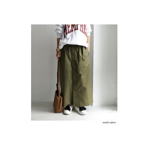 ボトムス スカート ロング レディース 綿100% ボタンデザインスカート・10月2日20時〜再販。「G」##メール便不可|antiqua|03