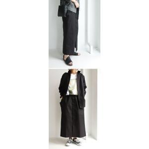 ボトムス スカート ロング レディース 綿100% ボタンデザインスカート・10月2日20時〜再販。「G」##メール便不可|antiqua|21