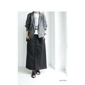 ボトムス スカート ロング レディース 綿100% ボタンデザインスカート・10月2日20時〜再販。「G」##メール便不可|antiqua|05
