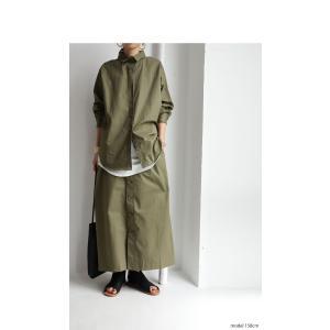 ボトムス スカート ロング レディース 綿100% ボタンデザインスカート・10月2日20時〜再販。「G」##メール便不可|antiqua|09