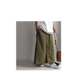 ボトムス スカート ロング レディース 綿100% ボタンデザインスカート・10月2日20時〜再販。「G」##メール便不可|antiqua|10
