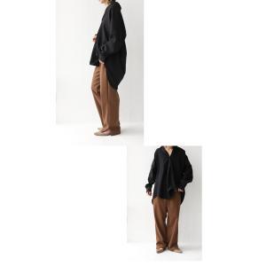 トップス シャツ 長袖 レディース スキッパーシャツ プルオーバーシャツ・1月15日20時〜再販。(100)メール便可|antiqua|20