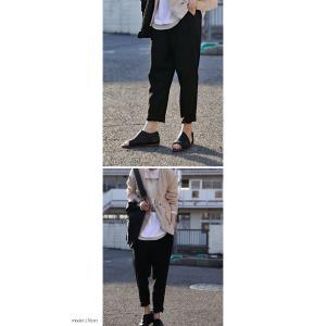 ボトムス パンツ テーパード レディース ベルト付き ベルト付きテーパードパンツ・1月15日20時〜発売。##メール便不可|antiqua|04