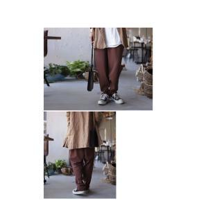 ボトムス パンツ テーパード レディース タック 長ズボン タックテーパードパンツ・1月15日20時〜発売。(80)メール便可|antiqua|09