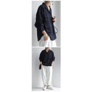 トップス シャツ 長袖 レディース オープンカラー セットアップ 開襟フィッシングシャツ・2月15日20時〜再販。##メール便不可|antiqua|11