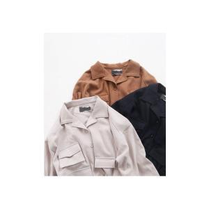 トップス シャツ 長袖 レディース オープンカラー セットアップ 開襟フィッシングシャツ・2月15日20時〜再販。##メール便不可|antiqua|14