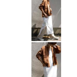 アウター ジャケット ブルゾン レディース ノーカラー フラップポケットジャケット・2月15日20時〜再販。##メール便不可 antiqua 11