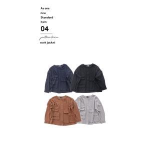アウター ジャケット ブルゾン レディース ノーカラー フラップポケットジャケット・2月15日20時〜再販。##メール便不可 antiqua 20