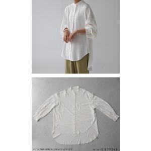 落ち感のある綺麗シルエット。一枚で様になる。スタンドカラーロングシャツ・5月9日20時〜発売。100ptメール便可|antiqua|05