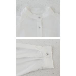 落ち感のある綺麗シルエット。一枚で様になる。スタンドカラーロングシャツ・5月9日20時〜発売。100ptメール便可|antiqua|06