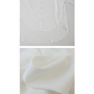 落ち感のある綺麗シルエット。一枚で様になる。スタンドカラーロングシャツ・5月9日20時〜発売。100ptメール便可|antiqua|07