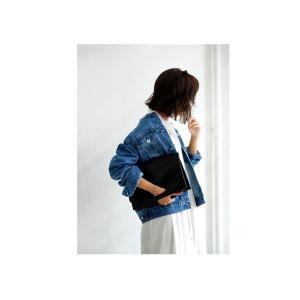 サイズ展開。鉄板シルエットの美デニムジャケット・フリンジ ノーカラー ##メール便不可|antiqua|04