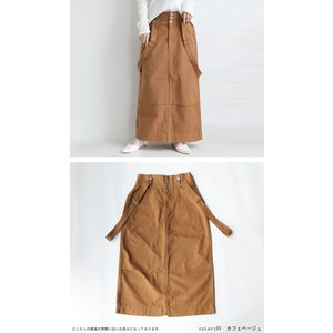 ボトムス スカート タイトスカート レディース 綿 綿100 サロペ サス付きハイウエストスカート・12月28日20時〜発売。##メール便不可|antiqua|13