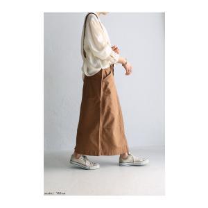 ボトムス スカート タイトスカート レディース 綿 綿100 サロペ サス付きハイウエストスカート・12月28日20時〜発売。##メール便不可|antiqua|10