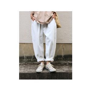 ボトムス パンツ レディース 綿 綿100 カラーパンツ カラーバルーンパンツ・2月15日20時〜発売。##メール便不可|antiqua|11
