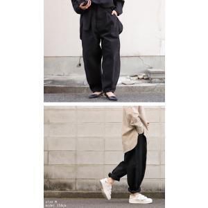 ボトムス パンツ レディース 綿 綿100 カラーパンツ カラーバルーンパンツ・2月15日20時〜発売。##メール便不可|antiqua|20