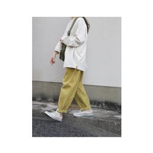 ボトムス パンツ レディース 綿 綿100 カラーパンツ カラーバルーンパンツ・2月15日20時〜発売。##メール便不可|antiqua|05