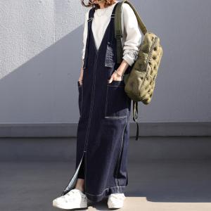 サロペット サロペットスカート レディース デニム サロペットデニムスカート・6月6日20時〜発売。メール便不可|antiqua|11