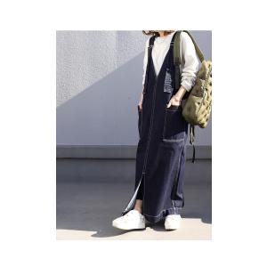サロペット サロペットスカート レディース デニム サロペットデニムスカート・6月6日20時〜発売。メール便不可|antiqua|04
