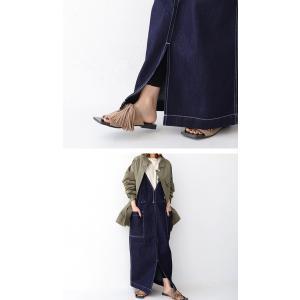 サロペット サロペットスカート レディース デニム サロペットデニムスカート・6月6日20時〜発売。メール便不可|antiqua|09