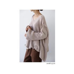 フレア ニット knit トップス  裾フレアデザインニット・再再販。「G」##メール便不可|antiqua|13