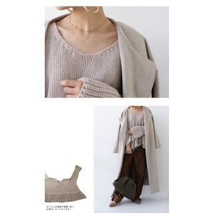 フレア ニット knit トップス  裾フレアデザインニット・再再販。「G」##メール便不可|antiqua|14