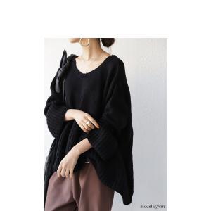フレア ニット knit トップス  裾フレアデザインニット・再再販。「G」##メール便不可|antiqua|16