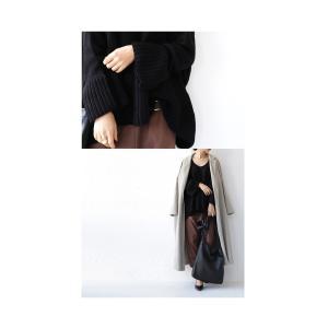 フレア ニット knit トップス  裾フレアデザインニット・再再販。「G」##メール便不可|antiqua|17