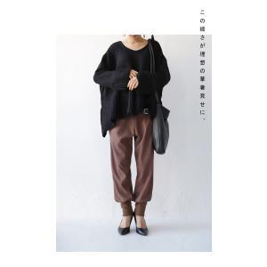 フレア ニット knit トップス  裾フレアデザインニット・再再販。「G」##メール便不可|antiqua|04