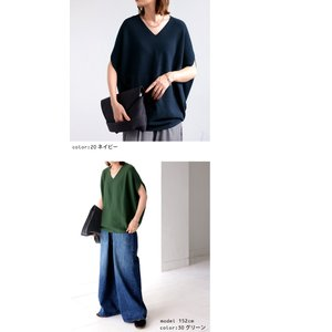 ニット トップス ドルマン ガーター編み 半袖 変形ニットトップス・5月15日20時〜再再販。「G」(100)メール便可|antiqua|04