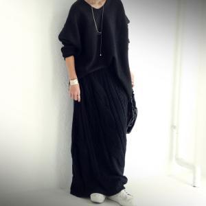 ボトムス スカート ケーブルニット 変形 モードニットスカート・11月10日20時〜発売。##メール便不可|antiqua