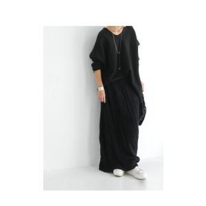ボトムス スカート ケーブルニット 変形 モードニットスカート・11月10日20時〜発売。##メール便不可|antiqua|03