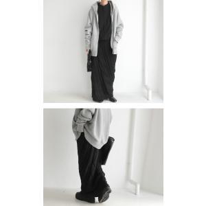 ボトムス スカート ケーブルニット 変形 モードニットスカート・11月10日20時〜発売。##メール便不可|antiqua|07