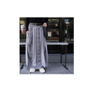 ボトムス スカート シフォン 異素材切替スカート・##メール便不可|antiqua|11