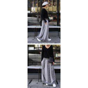 ボトムス スカート シフォン 異素材切替スカート・##メール便不可|antiqua|12