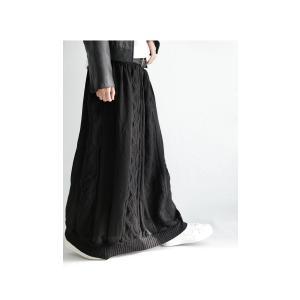 ボトムス スカート シフォン 異素材切替スカート・##メール便不可|antiqua|15