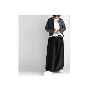 ボトムス スカート シフォン 異素材切替スカート・##メール便不可|antiqua|16