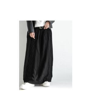 ボトムス スカート シフォン 異素材切替スカート・##メール便不可|antiqua|06