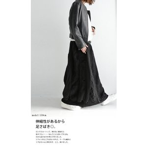 ボトムス スカート シフォン 異素材切替スカート・##メール便不可|antiqua|07