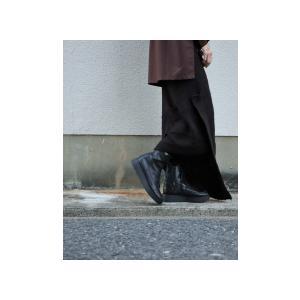 ボトムス スカート ニット アシンメトリー 天竺ニットタイトスカート・12月15日20時〜再販。「G」##メール便不可|antiqua|05