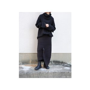 ボトムス スカート ニット アシンメトリー 天竺ニットタイトスカート・12月15日20時〜再販。「G」##メール便不可|antiqua|10