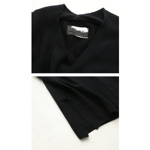ワンピース ニット 半袖 五分袖 綿混 Vネック ドルマン コクーンワンピ・3月23日20時〜発売。##メール便不可 antiqua 07