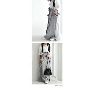 サロペット ワンピース レディース 綿 綿100% 裏毛 変形サロペスカート・12月28日20時〜再販。「G」##メール便不可|antiqua|13