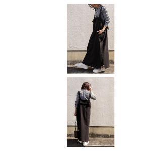 サロペット ワンピース レディース 綿 綿100% 裏毛 変形サロペスカート・12月28日20時〜再販。「G」##メール便不可|antiqua|15